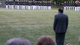 Scalia at Iwo Jima Memorial
